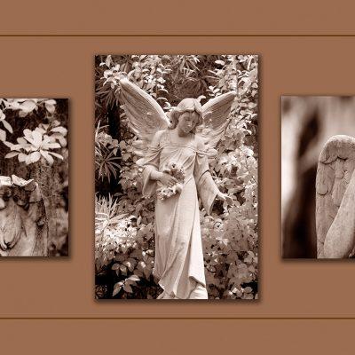 """Angel Triptych. Savannah, GA, """"99"""