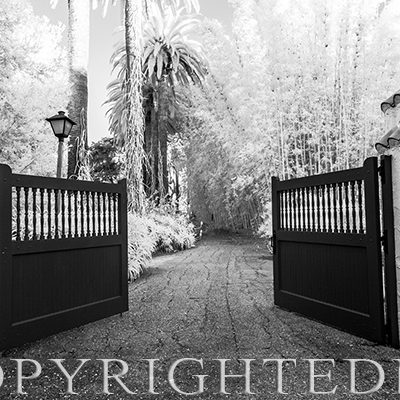 Gate and Roadway, Los Angeles, CA.,'19 IR